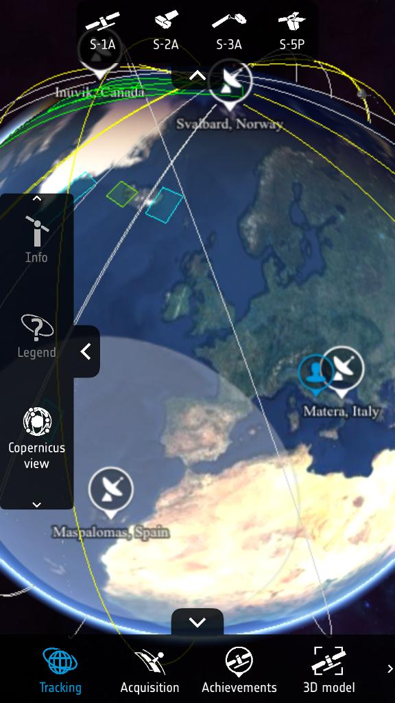 Copernicus Sentinel App on phone
